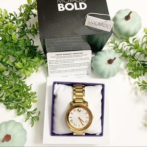 Movado watch color gold